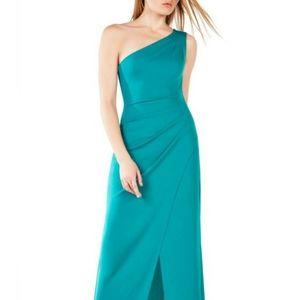 BCBG Courtney knit emerald dress